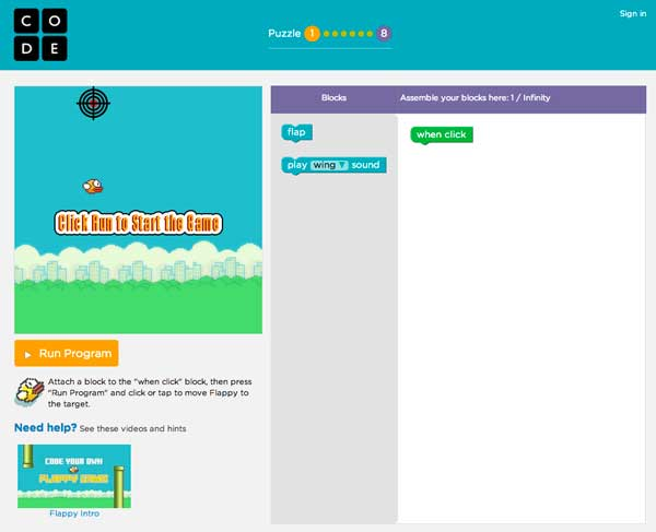 Learn to code with Flappy Bird