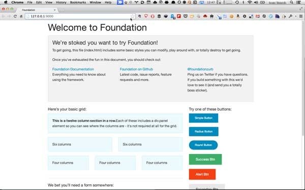 Foundation Default Screen
