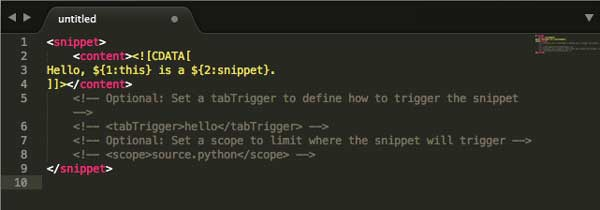 Code Snippet Preview
