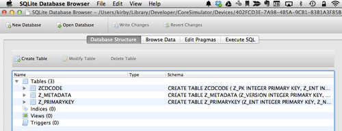 Browse and edit SQLite database