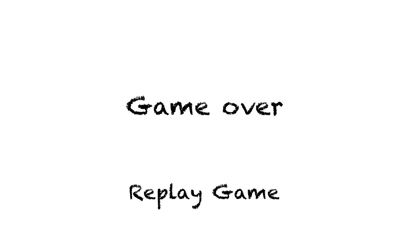 Game Over scene