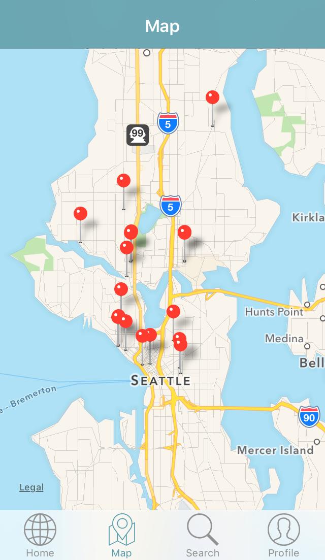 DealTapp Map Interface
