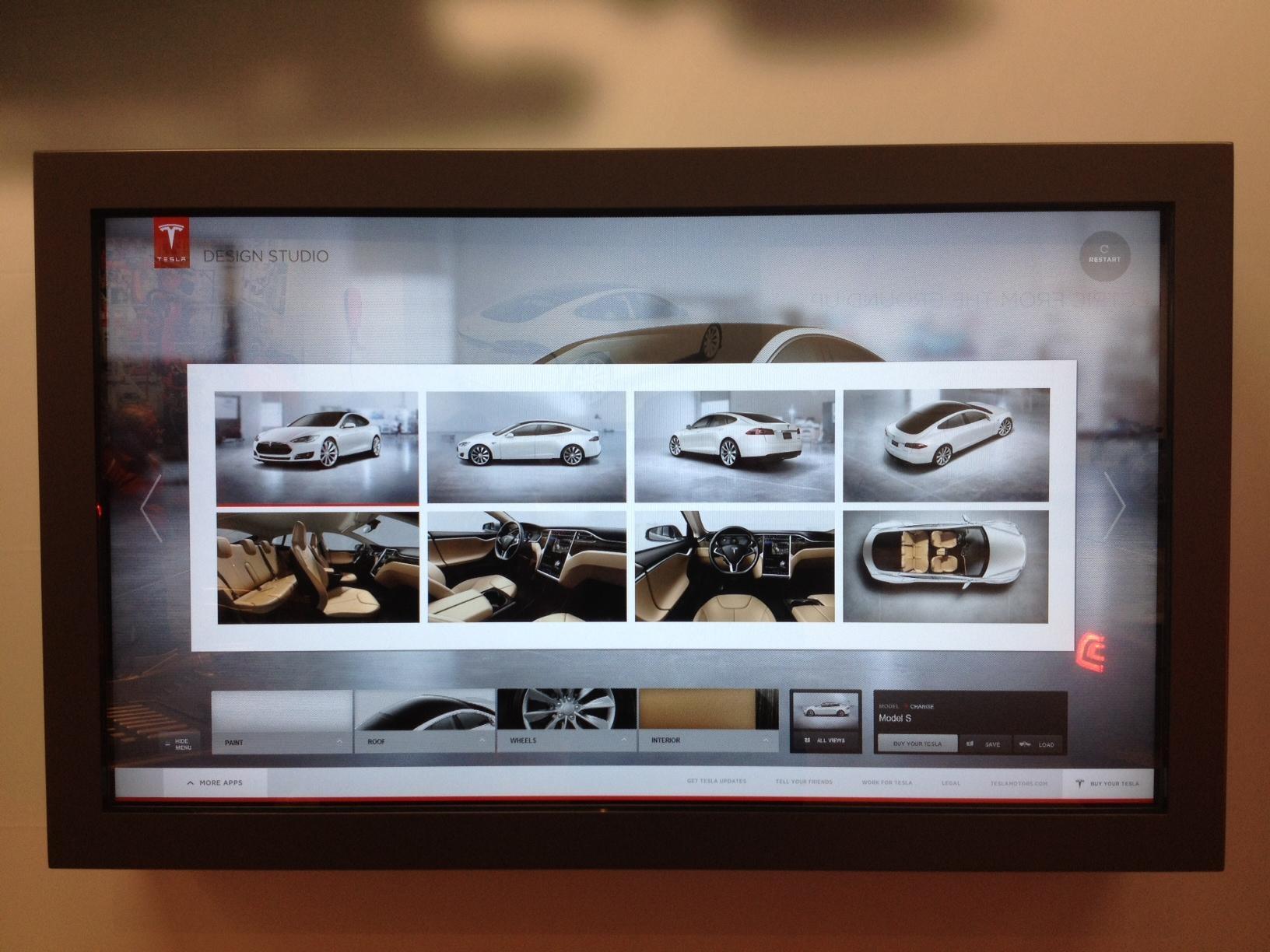 Tesla Website UI